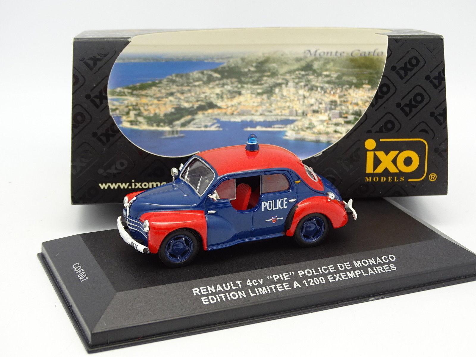 marche online vendita a basso costo Ixo 1 43 - - - Renault 4cv Polizia Pie Monaco  alta quaità