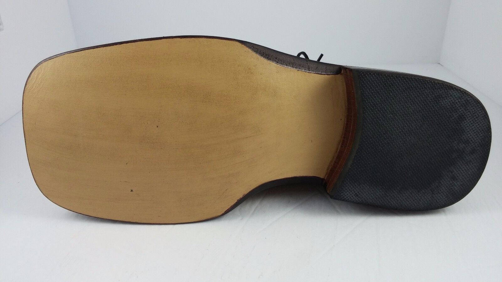 Bespoke Tan Pelle Benchmade Handmade Handmade Handmade Broad Square Toe Scarpe Pelle Sole Sz 8D c2f84f