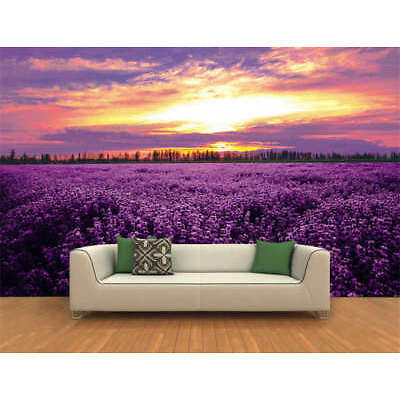 Lavender Flowers Sea Full Wall Mural Photo Wallpaper Printing 3D Decor Kids Home
