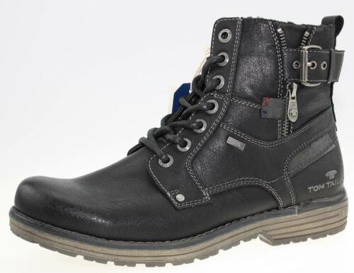 Tom Tailor Hommes Bottes Bottines Boots 7980806 Noir Black Neuf