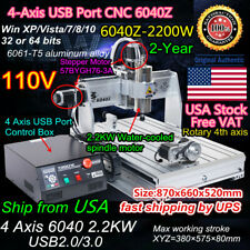 Us2200w Cnc Router 6040 4axis Mach3 Usb Engraver Drilling Milling Machine 110v