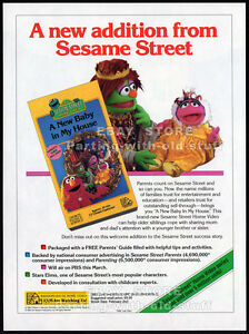 SESAME-STREET-A-New-Baby-in-My-House-Original-1994-Trade-print-AD-promo