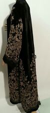 New open front  winter abaya/islamic wear/saudi women dress.size 52.54.56.58