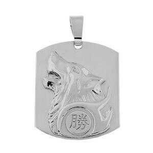 Neu Anhänger Wolf Freiheit Und Stärke Und Echt 925 Silber