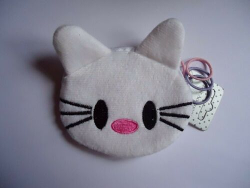 Childrens Soft Cat Face Pussycat Kitty Coin Purse And Hairband Set