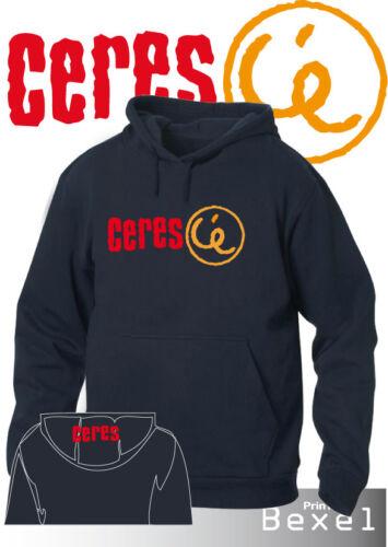 Felpa Hoddie Printed logo Birra Cere/'s C/'è  in 4 colori Cotone Tasche Cappuccio