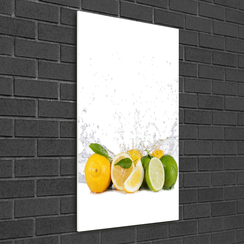 Wandbild Druck auf Plexiglas® Acryl Hochformat 50x100 Zitrusfrüchte