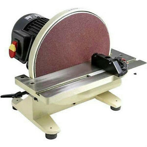"... HP 12"" Bench Top Disc Sander + Miter Gauge 110V 1725 RPM W1828 