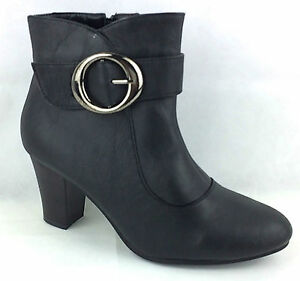 WOMENS-LADIES-CAUSAL-WORK-OFFICE-FASHION-ANKLE-HEEL-BOOTS-SHOES-SIZE-3-4-5-6-7-8