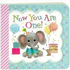 Little Bird Greetings: Now You Are One : A Keepsake Greeting Card Book by Minnie Birdsong (2017, Board Book)