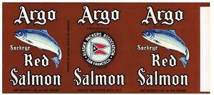 ORIGINAL TIN CAN LABEL VINTAGE SALMON CHIEF C1940 ALASKA PACKERS SAN FRANCISCO