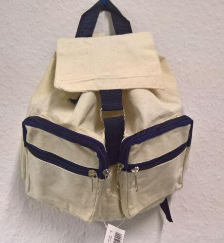 natur/blau Kinder-Rucksack zum bemalen Bastel- & Kreativ-Bedarf für Kinder