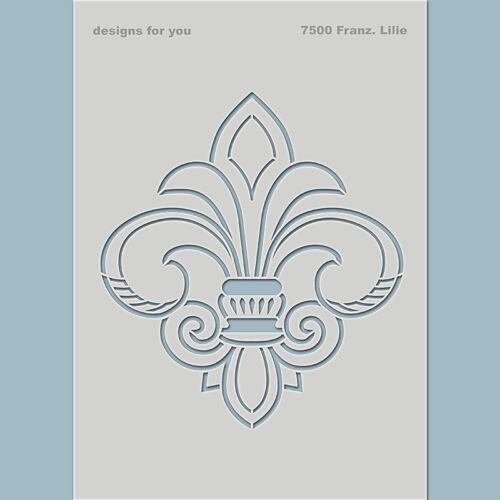 Fleur de Lis Schablone Französische Lilie Textil DIY Möbel Wandschablone