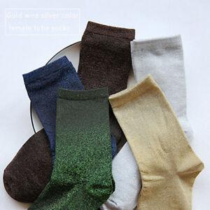 One-Size-Unisex-Thick-Warm-Soft-Glitter-Shiny-Socks-Trendy-Everyday-Wear-Socks
