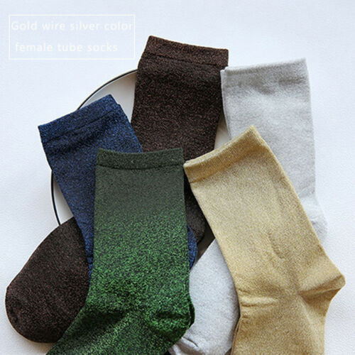 New Women Men Thick Glitter Shiny Socks Wear Socks Ankle Warm Soft Casual Gifts