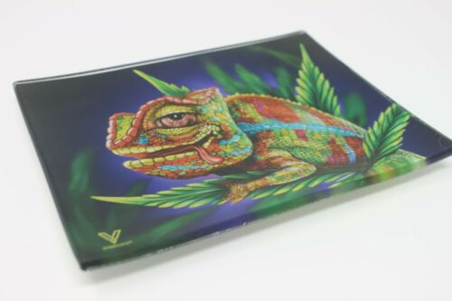 """New SYNDICATE Unbreakable Glass Rolling Tray Shatter Resist 12 Designs 6.2/""""x4.8/"""""""