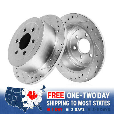 FRONT Drill Slot BRAKE ROTORS AND CERAMIC Pads For 2006 2007 2008 2009 2010 H3
