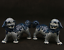 "thumbnail 1 - 6.3"" China Jingdezhen Blue White Porcelain Foo Fu Dog Guardion Lion Statue Pair"