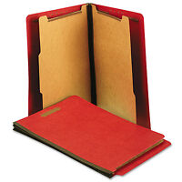 Universal One Pressboard End Tab Folders Letter Six-section Bright Red 10/box on sale