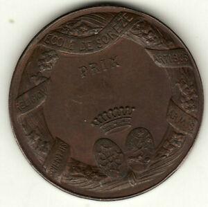 medaille-bronze-prix-ecole-de-soreze-double-frappe-RARE-poids-19-gr-20