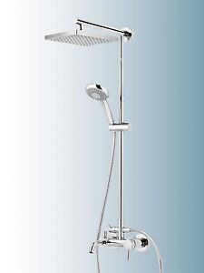 schulte duschmaster rain mit badewannenarmatur kopfbrause eckig d9644 ebay. Black Bedroom Furniture Sets. Home Design Ideas