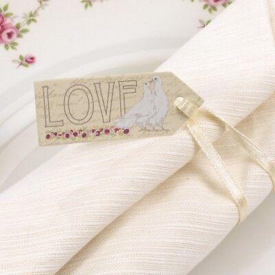 """""""con Amore"""" 10 Piccoli Bagagli Tag Etichette Con Nastro Decorazione Festa Matrimonio-mostra Il Titolo Originale"""