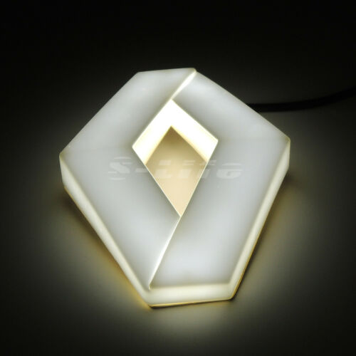 White LED Car Auto Tail Rear Logo Badge Emblem Lights For Renault Megane Kolenos