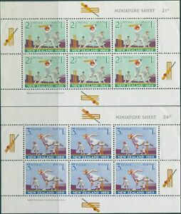 New-Zealand-1969-SG902-Health-playing-Cricket-set-of-2-MS-MNH