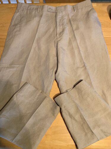 Luis Raphael Sz 40x32 Linen And Cotton Blend Khaki
