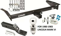 1980-1983 Lincoln Mark Vi Complete Trailer Hitch Package W/ Wiring Kit Class Iii
