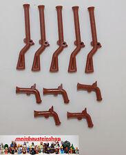 """Lego® 10X Waffen, Pistole, Gewehr, Weapons, Gun, Muskete  2561/2562 """"NEUWARE"""""""