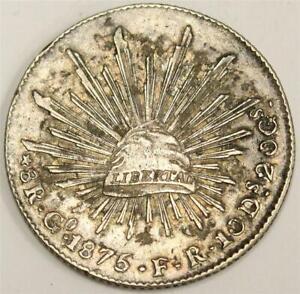 1875-Go-FR-Mexico-8-Reales-silver-coin-VF30