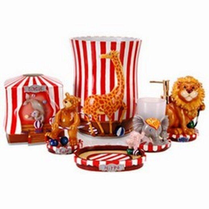 Circus Bathroom Set Lion Hippo Bear Giraffe Bear Seal Barnum Bailey  NEW BRIGHT