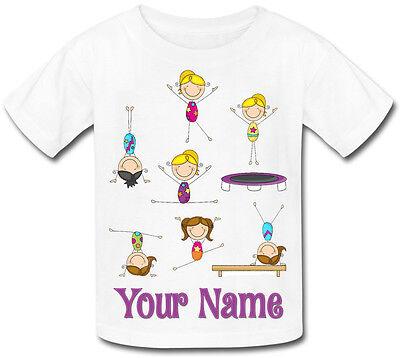 Collezione Qui La Ginnastica Danza Personalizzata Sublimazione Girl's T-shirt - Denominato Kid's Regalo-mostra Il Titolo Originale