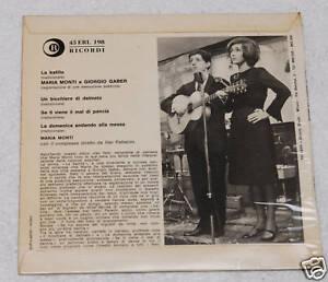 GIORGIO-GABER-MARIA-MONTI-EP-ORIGINALE-1963-EX-CONDITIO