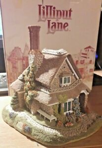 RARE-Lilliput-Lane-034-JASMINE-COTTAGE-034-c-1991-Blaise-Hamlet-collection-Deeds