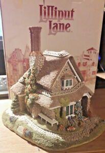 BNIB-RARE-Lilliput-Lane-034-JASMINE-COTTAGE-034-c-1991-With-Deeds