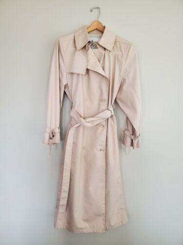 London Fog Trench Coat Pink Dusty Rose Blush Long