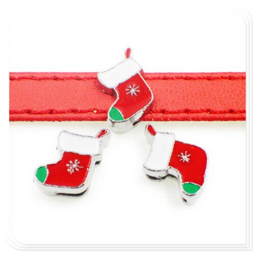 5pc Multiple Style Noël Halloween série 8 mm Slide Charms coupe ceinture//collier