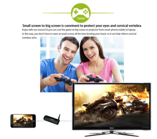 WiFi HDMI Dongle Video to TV HDTV AV for iPad iPhone 6 7 8 X Android Samsung S8