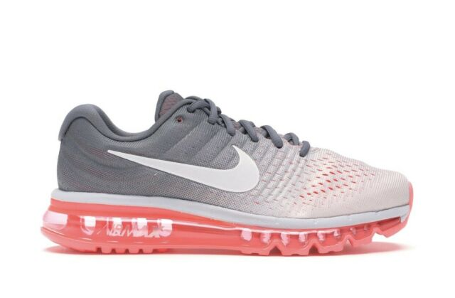 "Nike Air Max 2017 ""Pure Platinum Hot Lava"" 849560-007 Womens Running Shoes  Sz 5"