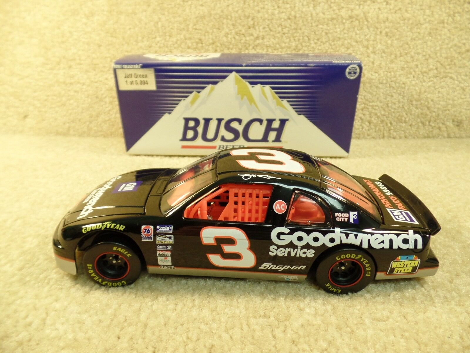 Used 1995 Action 1 24 Diecast NASCAR Jeff verde Goodwrench Western Steer  3