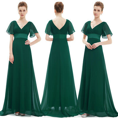 Ever Pretty Dark Green V Neck Evening Gowns Long Bridesmaid Dresses 09890 Ebay