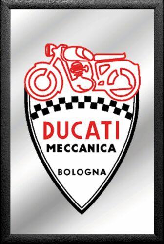Ducati Motorrad Spiegel Bogogna Mirror Wandspiegel Bar Kneipe 30cm