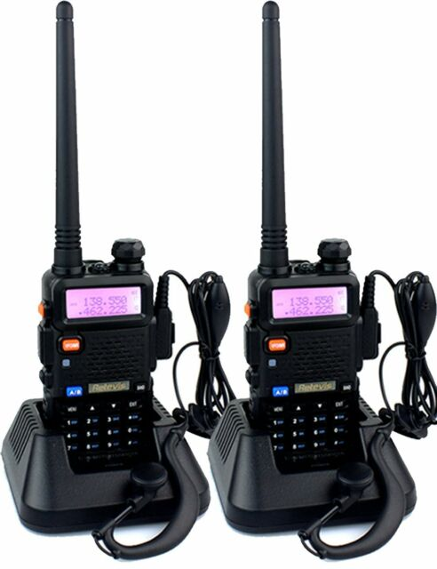 2Pcs RETEVIS RT-5R Walkie Talkies 5W 128CH dualband DTMF VOX 2-Way Radio AU ship