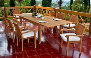 9-PC-OUTDOOR-DINING-TEAK-SET-122-034-X-LARGE-RECTANGLE-TABLE-8-STACKING-CHAIRS