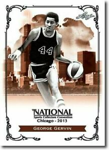 GEORGE-GERVIN-2013-LEAF-NATIONAL-EXCLUSIVE-COLLECTORS-PROMO-CARD