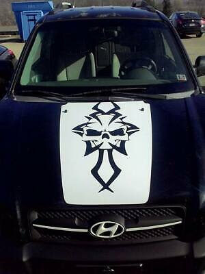 4x4 Skull Hood Decal for Jeep military Wrangler graphics big cj blackout v18