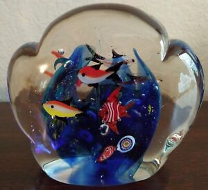 Murano-Glass-Aquarium-Paperweight