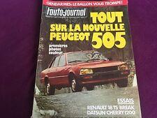 AUTO JOURNAL N°7 ANNEE 1979 PEUGEOT 505 RENAULT 18 BREAK DATSUN CHERRY